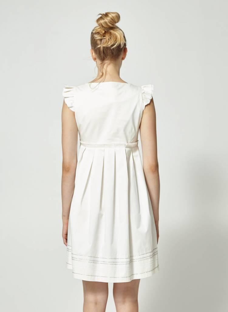 092693c1785 Robe blanche broderies fleuries - Love Moschino - Deuxième édition