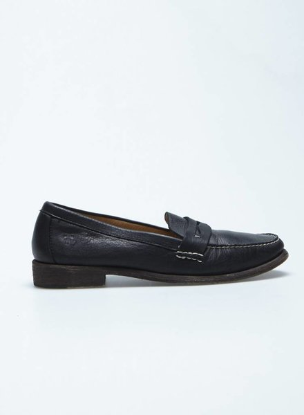 Frye CHAUSSURES EN CUIR NOIR COUTURES BLANCHES