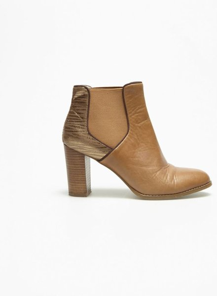 Mellow Yellow SALE - GOLDEN LEATHER BOOTS