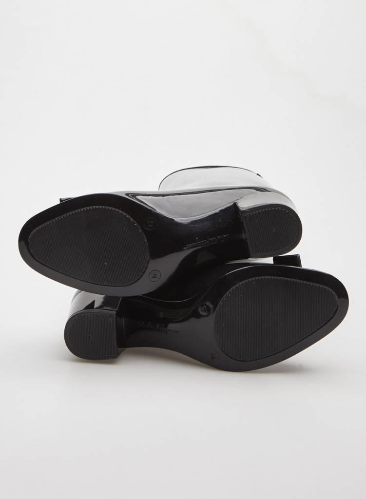 Salvatore Ferragamo Bottes de pluie noires à talon et petite boucle
