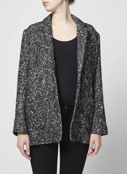 Rails ON SALE - WOOLEN BLACK AND WHITE COAT