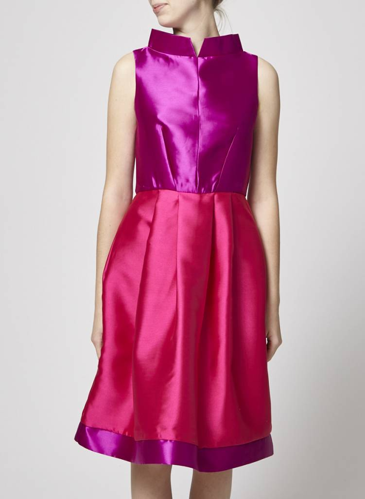 Closet London Robe rose et mauve col haut - Neuve
