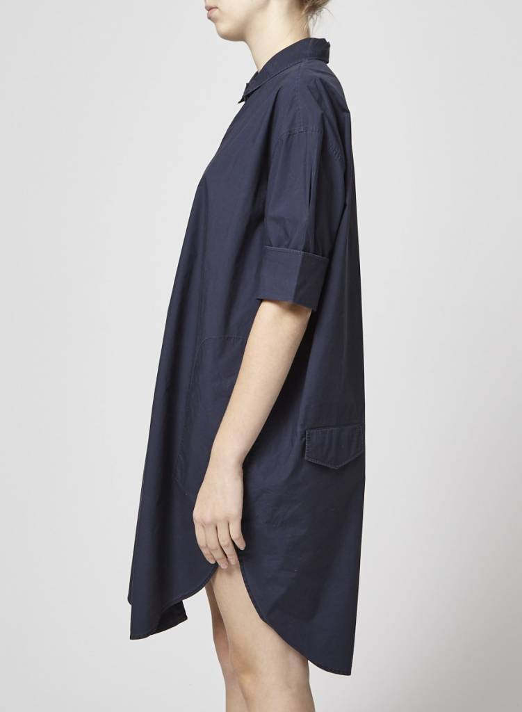 Acne Studios Robe chemise marine  à manches 3/4