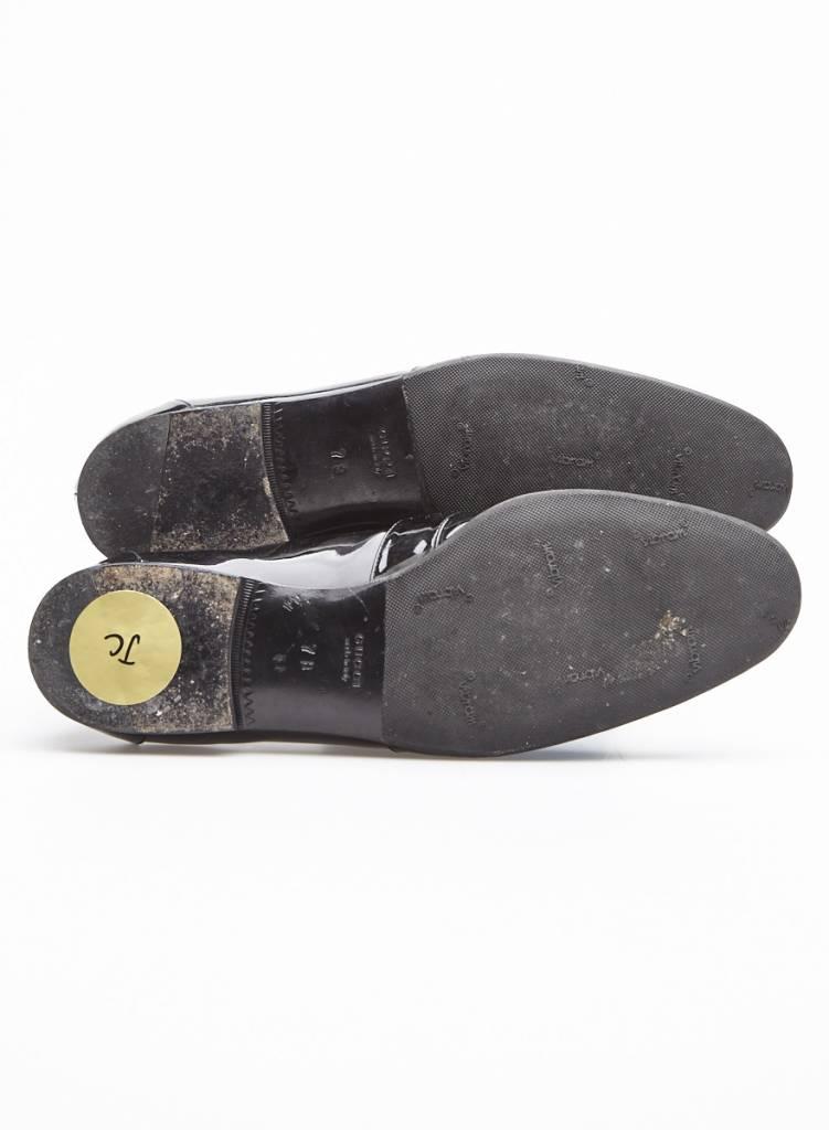 Gucci Flâneurs en cuir vernis noir modèle Jordaan