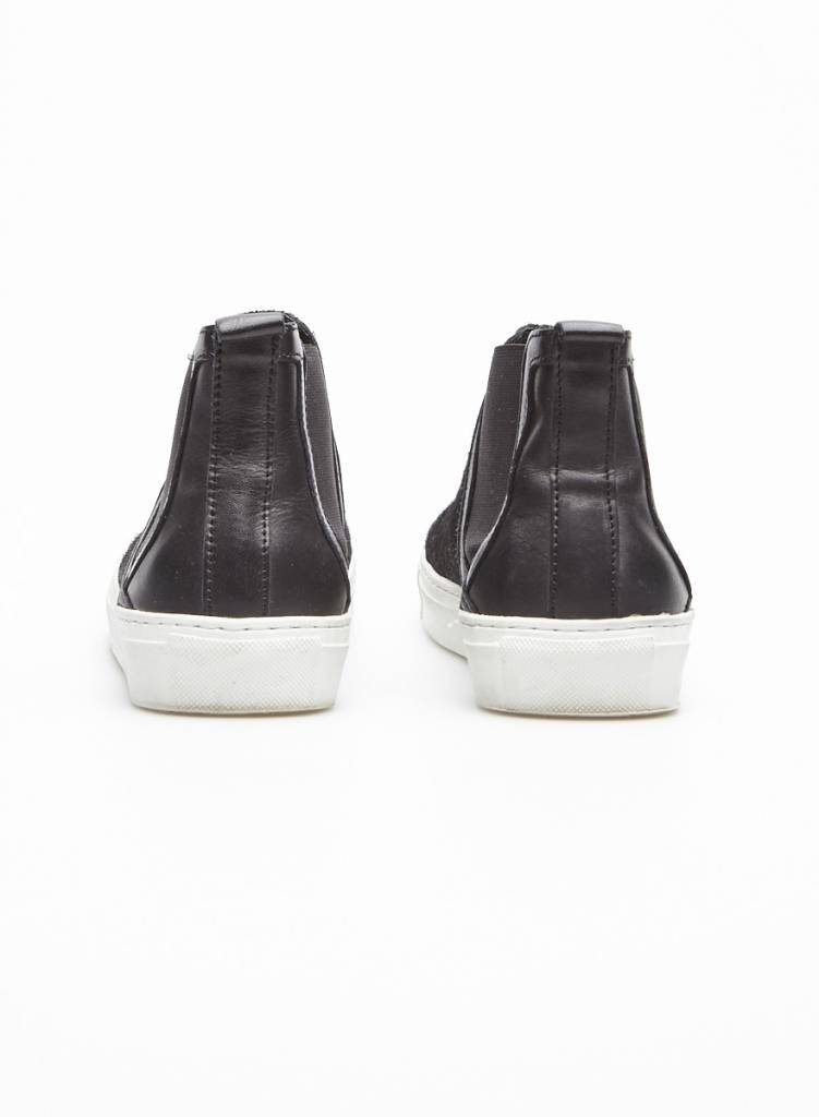 Marque inconnue Solde - Espadrilles noires coupe haute style poulain