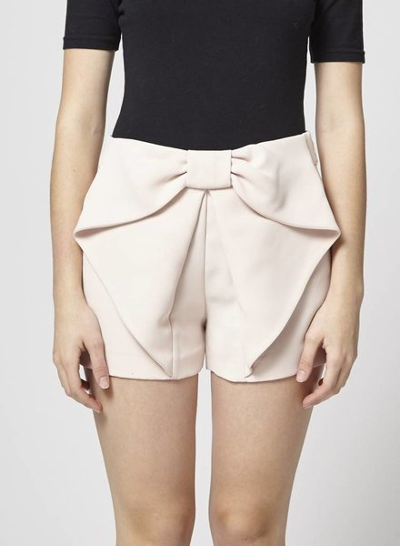 Claudie Pierlot SALE - PALE PINK SHORTS WITH BIG BOW