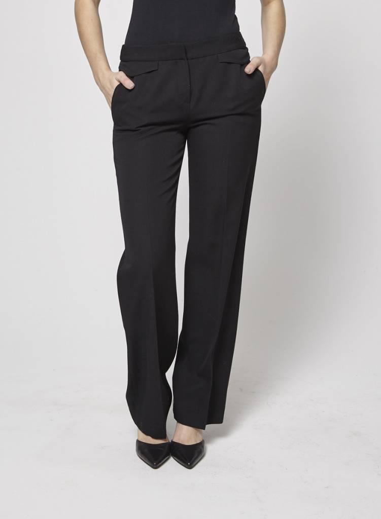 Christian Dior Pantalon noir à jambe large