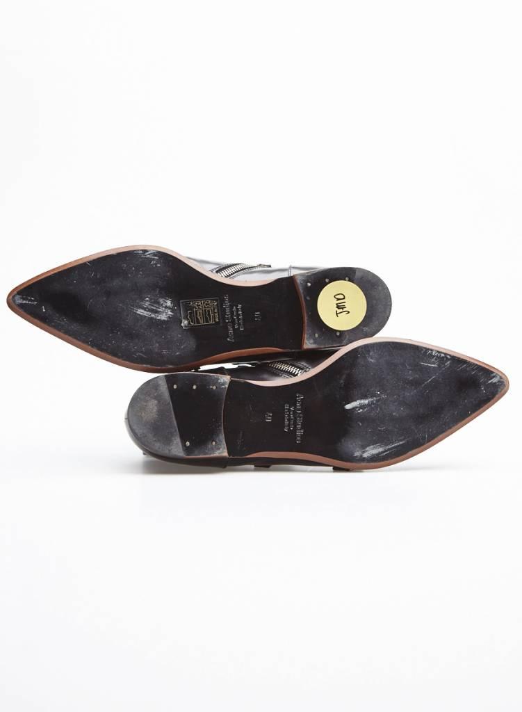 Acne Studios SOLDE - Chaussures en cuir noir à bout pointu