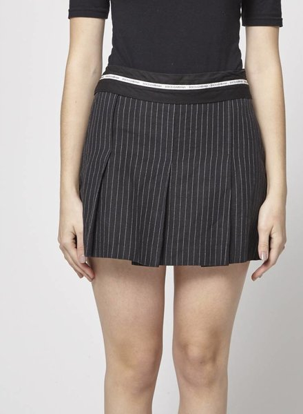 Dolce & Gabbana BLACK THIN WHITE STRIPED SKIRT
