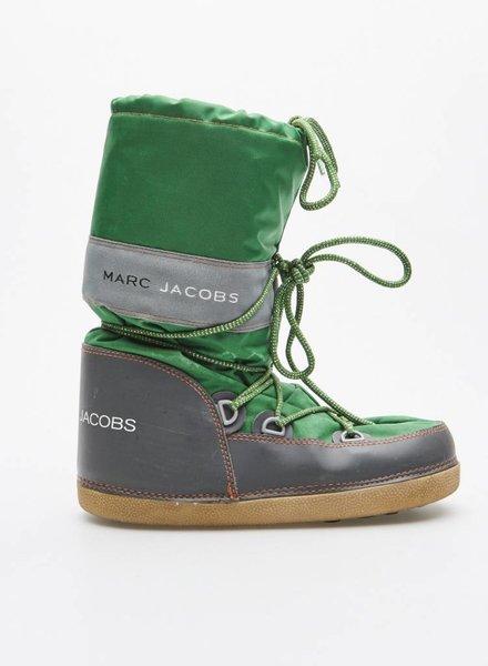 """Marc Jacobs BOTTES D'HIVER STYLE """"MOON BOOTS"""" VERT ET GRIS"""