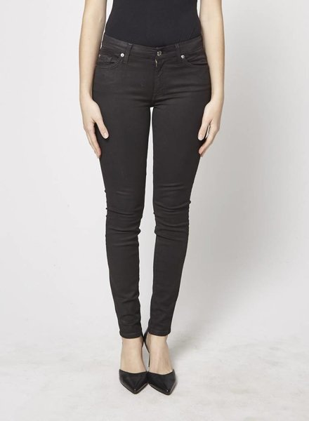 7 for all mankind JEANS SKINNY NOIR SCINTILLANT
