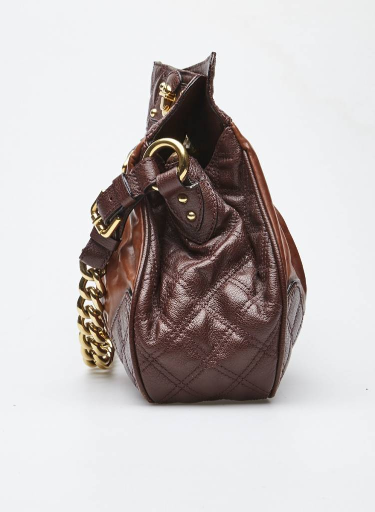 Marc Jacobs Sac à main en cuir marron et bourgogne - MARC JACOBS