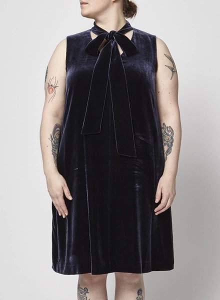 Lafayette 148 BLUE VELVET DRESS