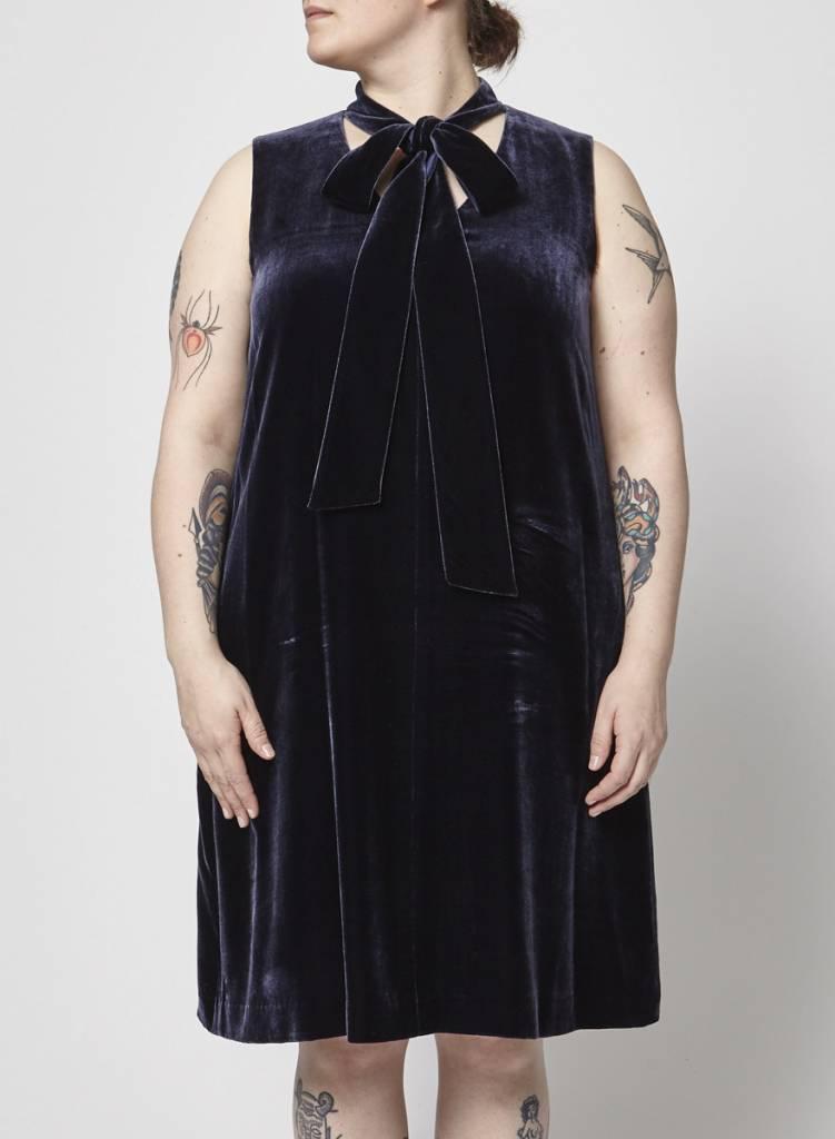 Lafayette 148 Blue velvet dress