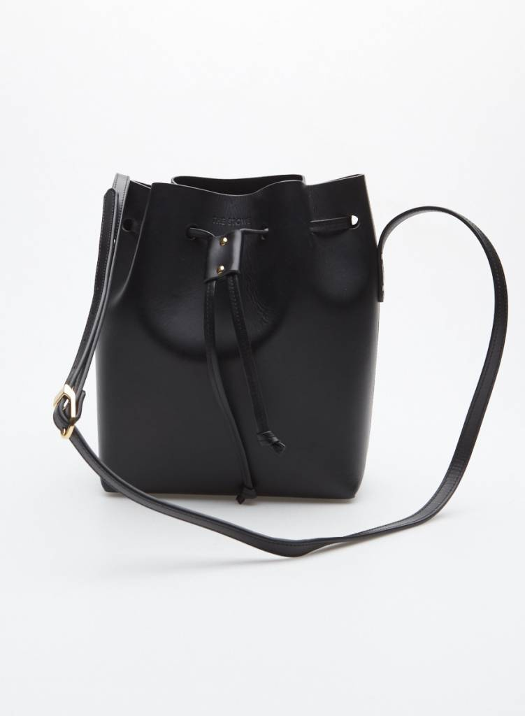 "The Stowe Sac à main style ""bucket"" en cuir noir"