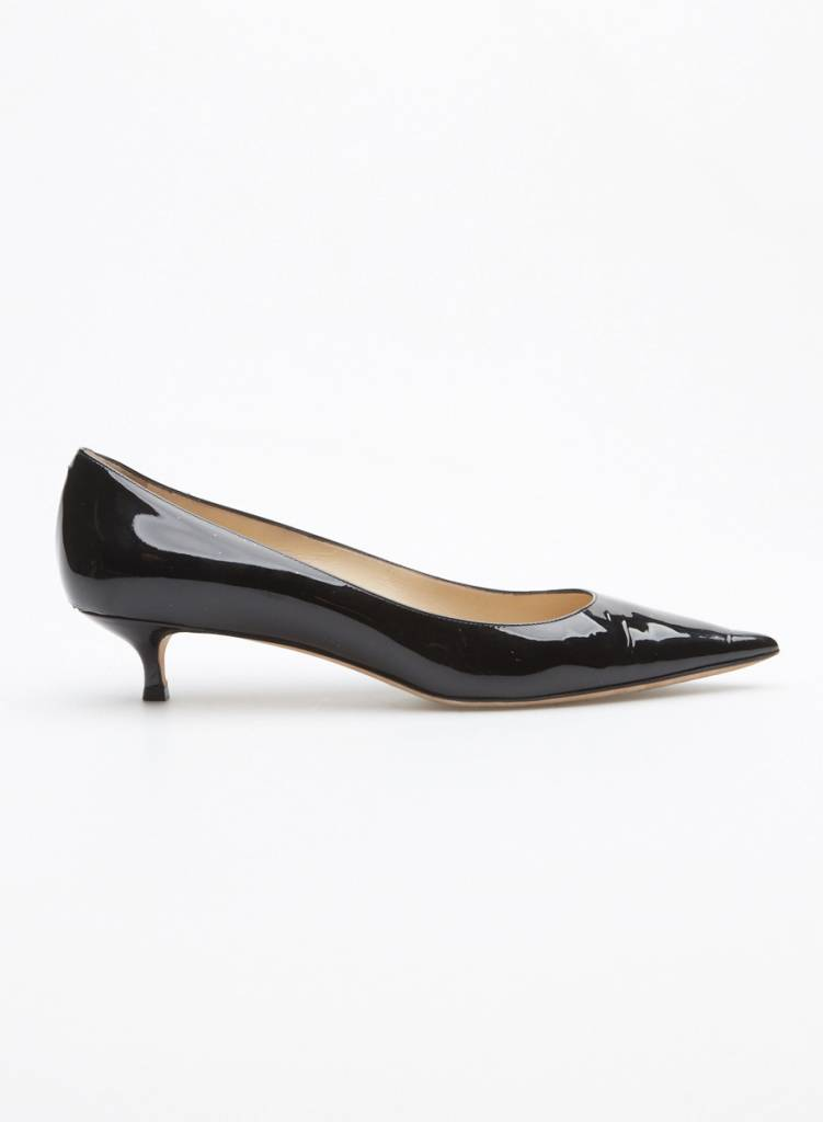 15181dc6742 PATENT LEATHER KITTEN HEEL PUMPS - JIMMY CHOO - 11.6 - DEUXIEME EDITION