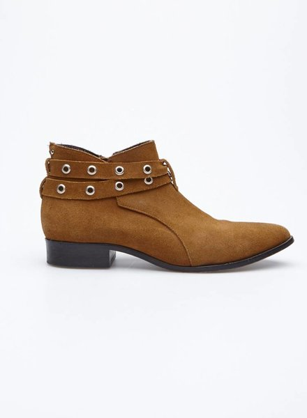 Cartel COGNAC SUEDE BOOTIES