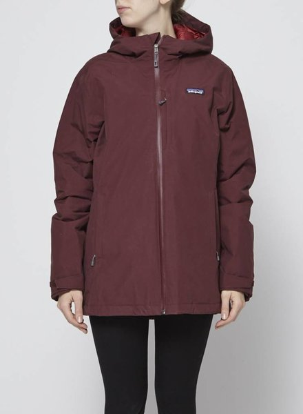 Patagonia BURGUNDY WINDSWEEP DOWN HOODY COAT - NEW