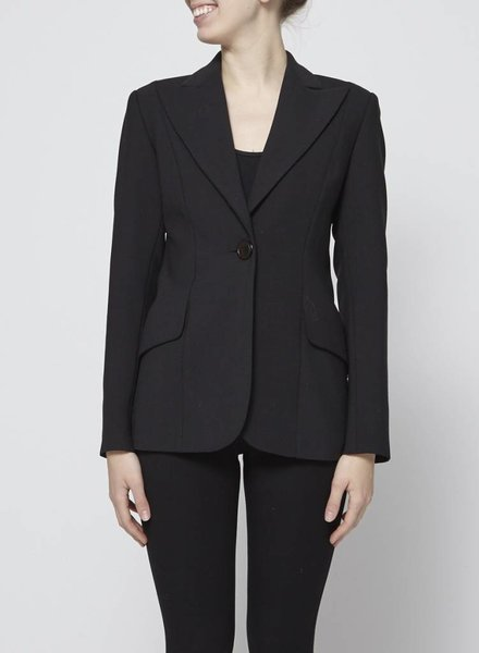 Philippe Dubuc BLACK BLAZER WITH WOOL