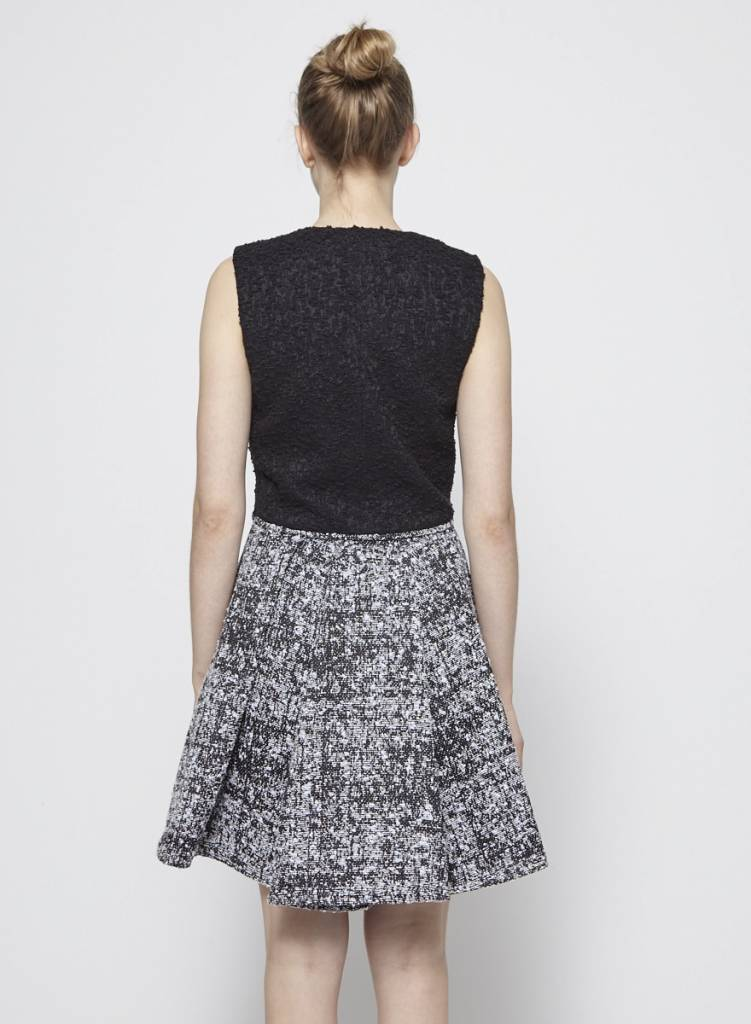 Proenza Schouler Solde - Robe noire crème et lavande en tweed