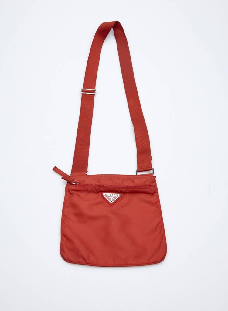 938fcb09cf Prada Small Shoulder Red Canvas Bag Prada Small Shoulder Red Canvas Bag ...