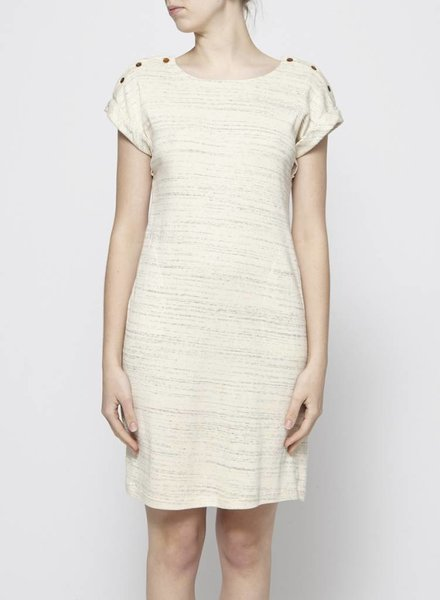 Atelier B BEIGE COTTON DRESS WITH POCKETS