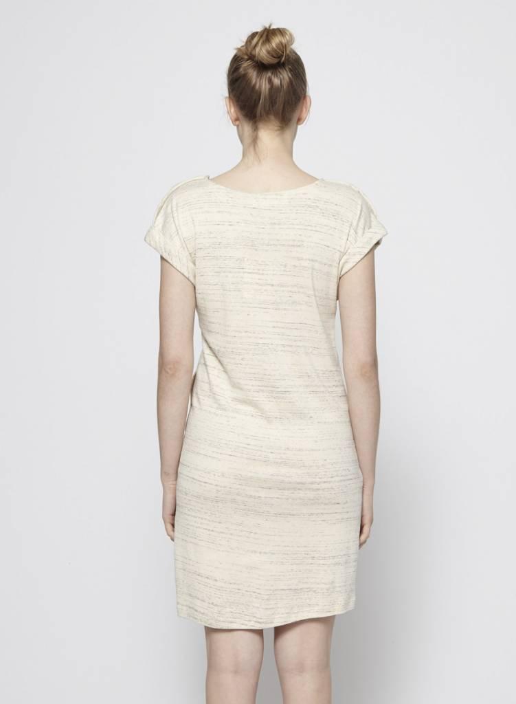 Atelier B Robe à poches écrue en coton