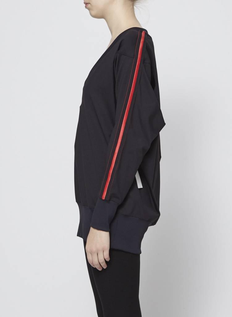 Koral Pull de sport noir à lignes rouges - KORAL - PETIT