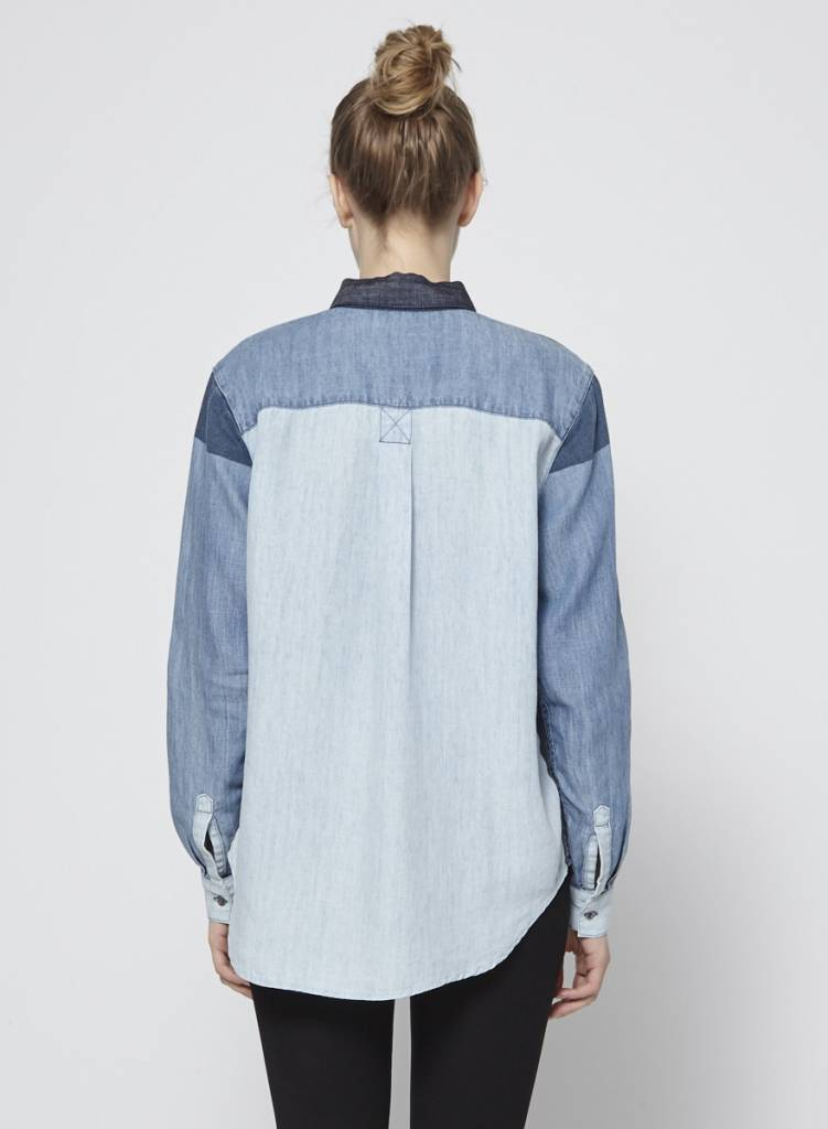Rails Chemise patchwork en denim