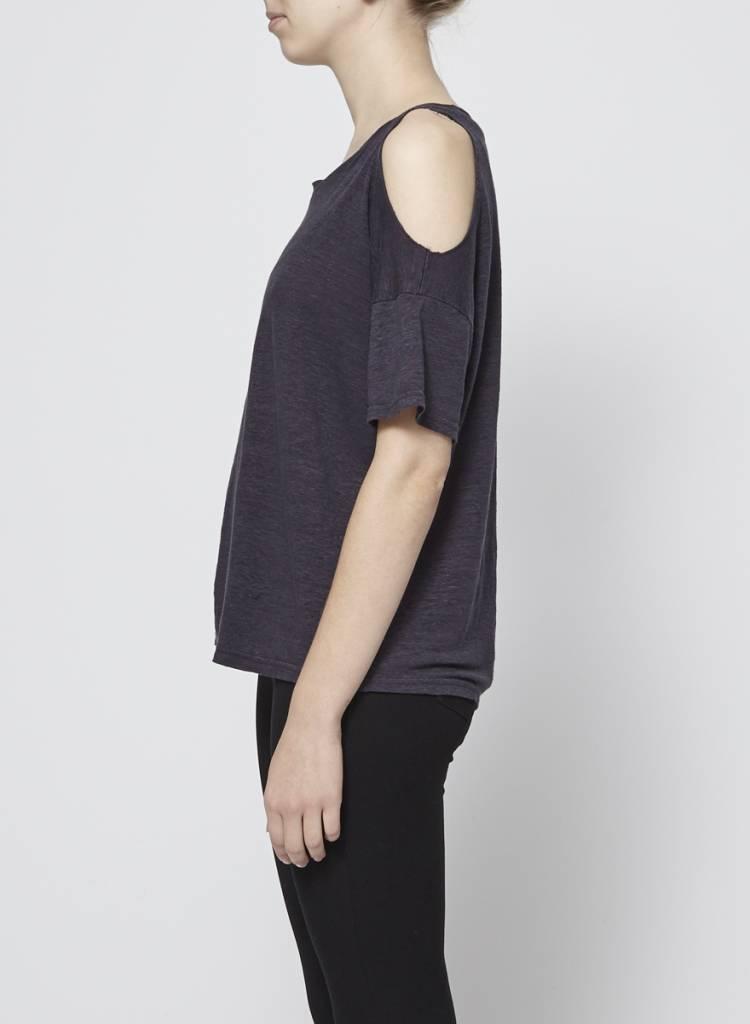 Rails T-shirt gris foncé épaules dénudées