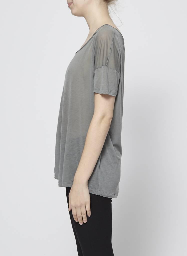 Designers Remix - Charlotte Eskildsen T-shirt léger vert kaki léger