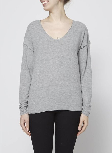 Project Social T COZY GREY SWEATER - NEW