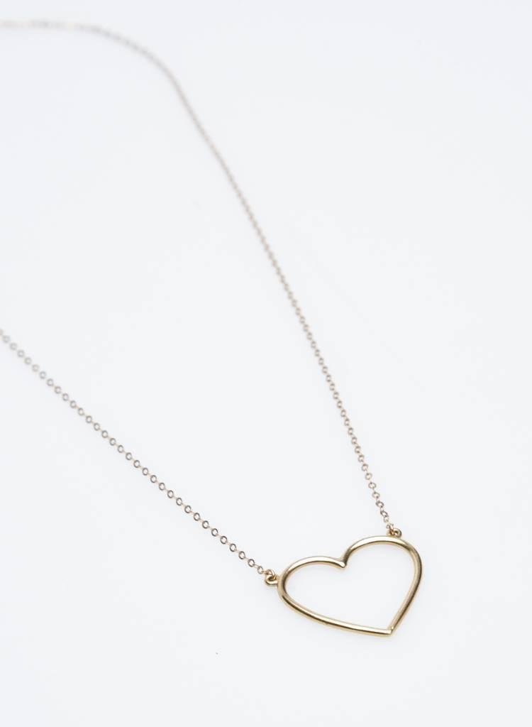 The Right Hand Gal Pendentif en or massif avec coeur