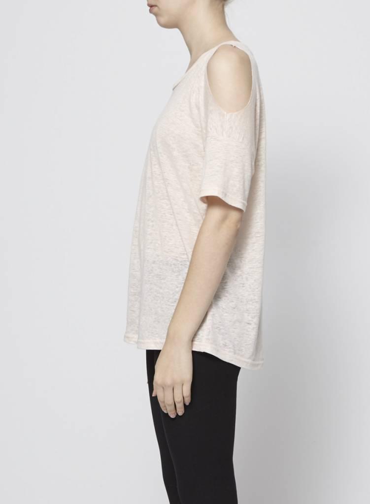 Rails T-shirt rose pâle à épaules dénudées