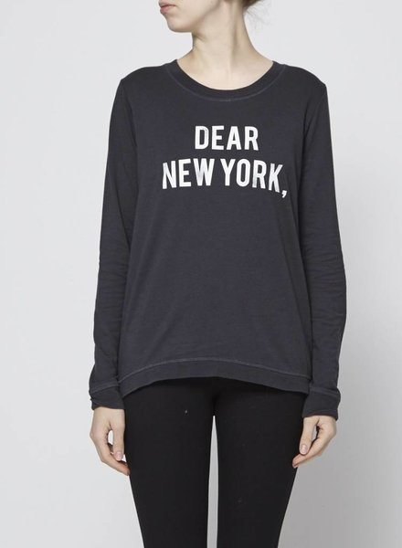"South Parade BLACK SWEATHER ""DEAR NEW YORK"""