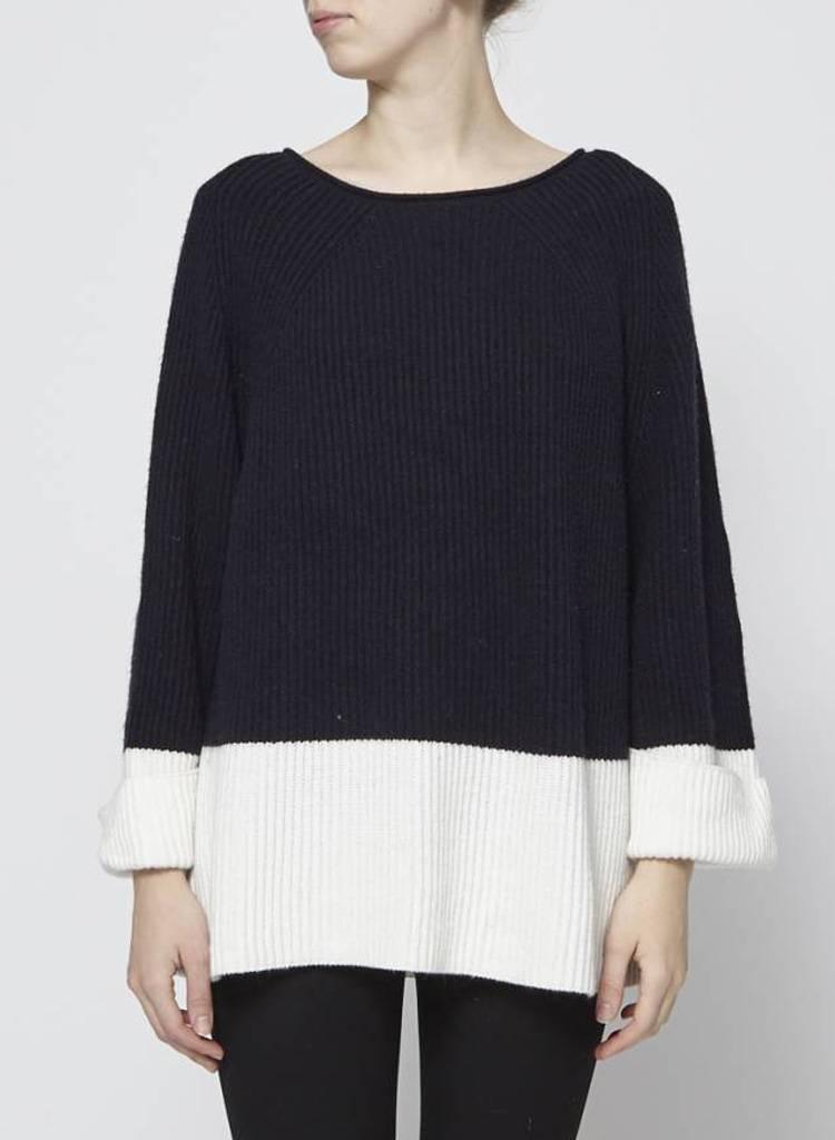 Charli Pull avec laine et cachemire marine et crème