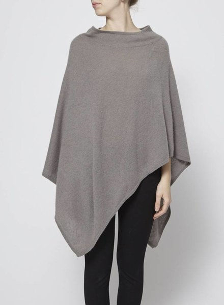 Repeat ASYMMETRICAL CASHMERE TAUPE PONCHO
