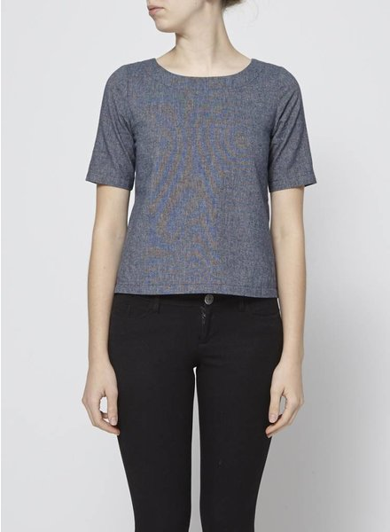 Atelier B BLUE COTTON TOP