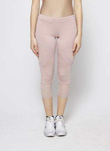 Stella McCartney pour Adidas LEGGING VIEUX ROSE EMPIÈCEMENT RÉSILLE