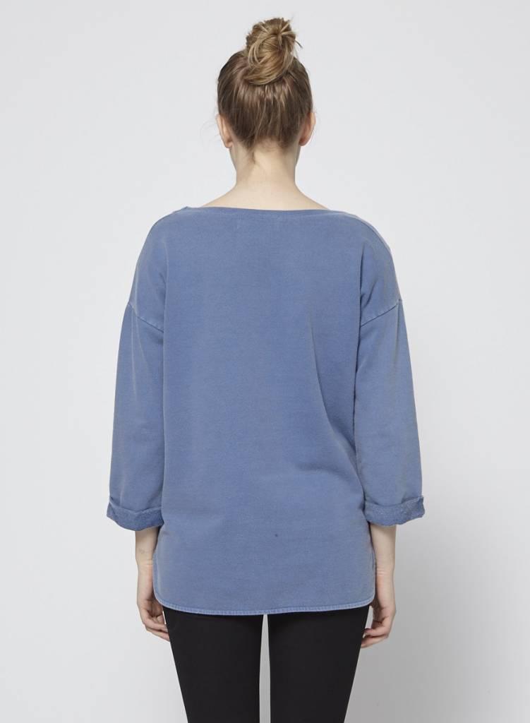 Designers Remix - Charlotte Eskildsen Pull en coton ouaté bleu