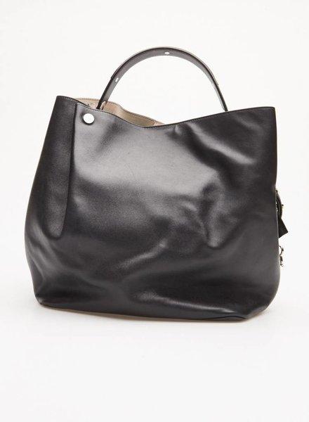 """Christian Dior SAC À MAIN EN CUIR NOIR """"BLACK LEATHER DIORIFIC BUCKET BAG"""""""