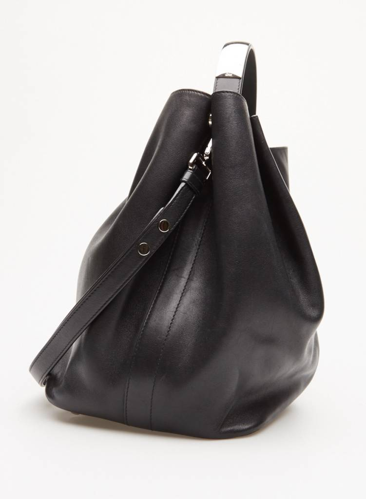 e318e3f9cb8 Christian Dior Black Leather Diorific Bucket Bag - DEUXIEME EDITION