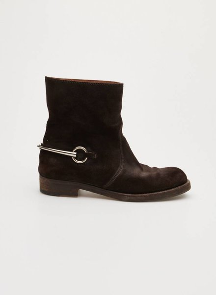 Gucci BROWN SUEDE BOOTS