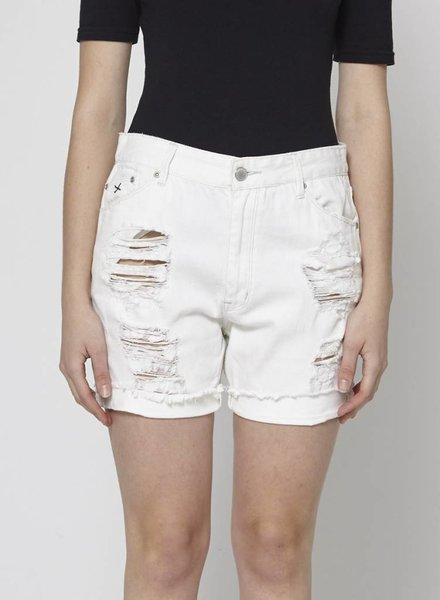 RES Denim SHORT BLANC FAUSSES DÉCHIRURES