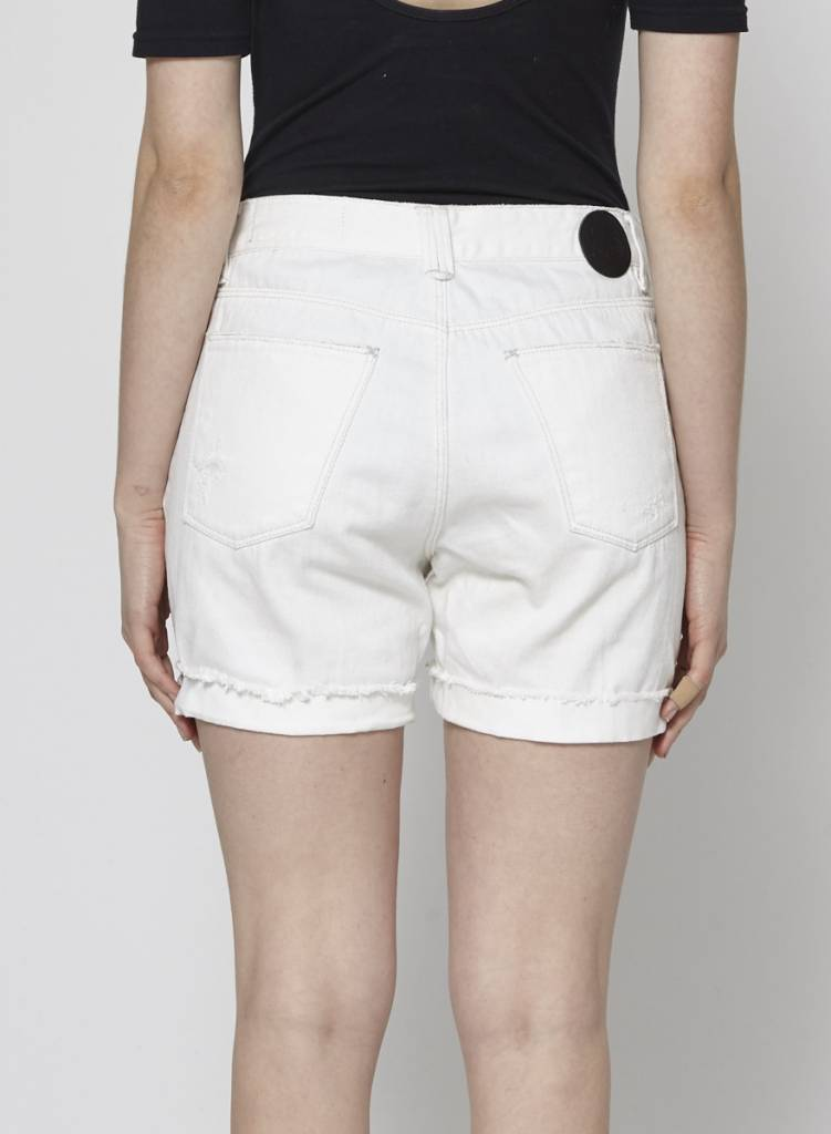 RES Denim DISTRESSED WHITE SHORTS