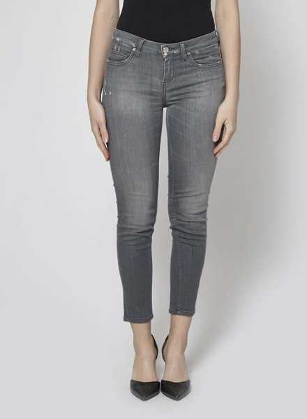Iro JEANS GRIS FAUSSES USURES