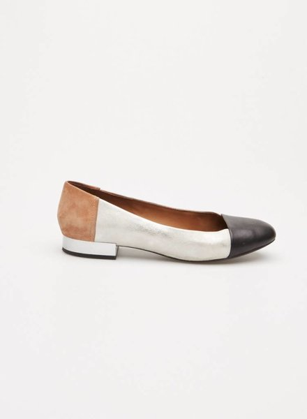 Geox SILVER, BLACK AND BROWN LEATHER SUEDE SHOES