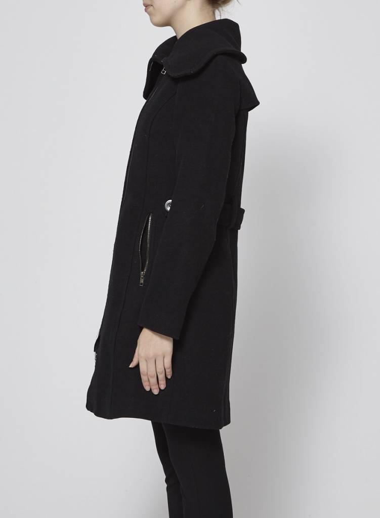 Soia & Kyo Manteau noir en laine
