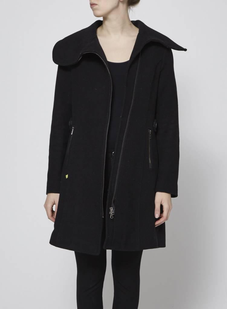 Soia & Kyo Solde - Manteau noir en laine