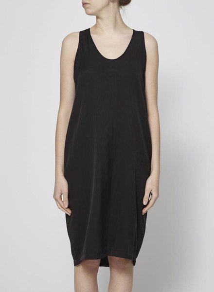 Clu BLACK DRESS WITH SILK